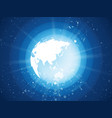 internet concept of global business blue planet vector image vector image