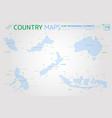 malaysia indonesia australia new zealand and vector image
