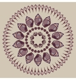 Mandala made of Seashells vector image vector image