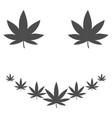 marihuana smile flat icon vector image
