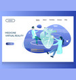medicine virtual reality website landing vector image vector image