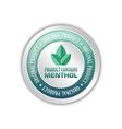 Menthol badge vector image vector image