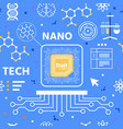 nano technology flat cartoon seamless pattern vector image vector image