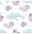 ocean birthday underwater seamless pattern vector image