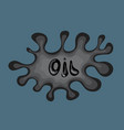 oil spill vector image