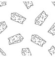 pattern with cheese vector image