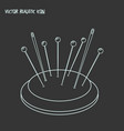 pincushion icon line element vector image vector image