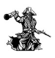 pirates holding gun vector image vector image