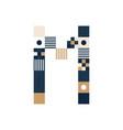 pixel art letter m colorful letter consist of vector image vector image
