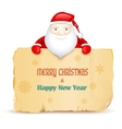 Santa with Merry Christmas message vector image
