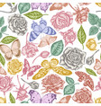 seamless pattern with hand drawn pastel lemon vector image