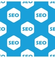 SEO hexagon pattern vector image vector image