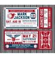 set vintage basketball tickets vector image vector image