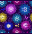 spring purple seamless pattern with bright vector image