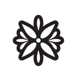 style black and white icon Arabic flower logo vector image vector image
