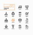 thailand - modern line design style icons set vector image