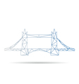 Tower bridge abstract isolated vector image vector image