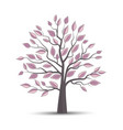 tree and colorful leaves vector image vector image