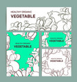 vegetable doodles pattern background vector image