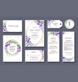 wedding invitation card save date rsvp card vector image