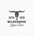 wilderness abstract sign symbol or logo vector image