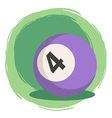 Billiard Ball Number 4 Purple vector image