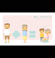 Family background and infographic 2 vector image