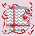 Red ribbons of set gift vector image