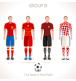 EURO 2016 GROUP D Championship vector image