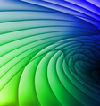 Green and blue waves vector image