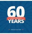 60 year anniversary card poster template