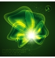 abstract green background with shiny bubbles vector image
