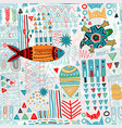 abstract seamless pattern colorful tropic vector image