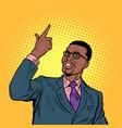 african confident businessman hand gesture vector image vector image