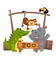animal zoo vector image vector image