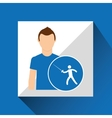 athlete man fencing sport graphic vector image