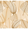 Atumnal seamless pattern with brown leaves vector image vector image
