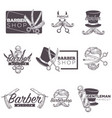barber shop mustache beard retro sketch vector image vector image