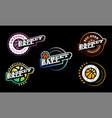 basketball logo set modern professional vector image vector image