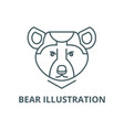 bear line icon bear vector image
