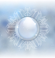 Beautiful snow globe vector image vector image