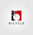 bicycle bike logo icon negative space design vector image