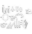big set of infographics elements chart report vector image