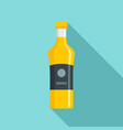 bottle rice sauce icon flat style vector image
