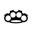 brass knuckles isolated weapon bully vector image vector image