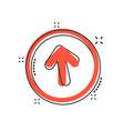 cartoon arrow up icon in comic style forward vector image vector image