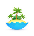 cartoon landscape of tropic island vector image vector image