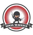 Cartoon ninja design elements vector image vector image