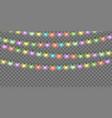 christmas lights set color xmas garlands vector image vector image