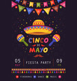 cinco de mayo poster traditional mexican vector image vector image